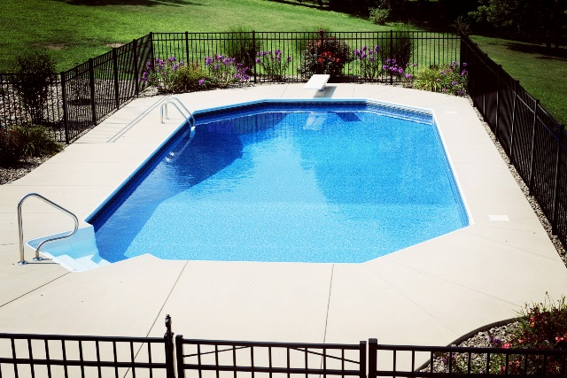 Gallery rose pool and patio for Grecian pool shape