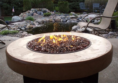 Designing Fire, manufacturer of the Oriflamme Fire Table, provides a  uniquely designed gas fire pit table for an exceptional outdoor experience. - Rose Pool And Patio » Designing Fire