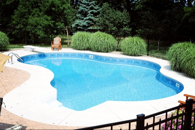 Inground pool landscaping magnificent nj pool landscape for Pictures of inground pools landscape